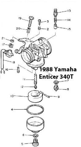 Yamaha Enticer 340 Snowmobile Carburetor Rebuild Kit 1003-1672