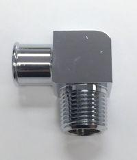 Hot Rod Chrome Aluminum 90 Deg Heater Hose Fitting 3/4 ...