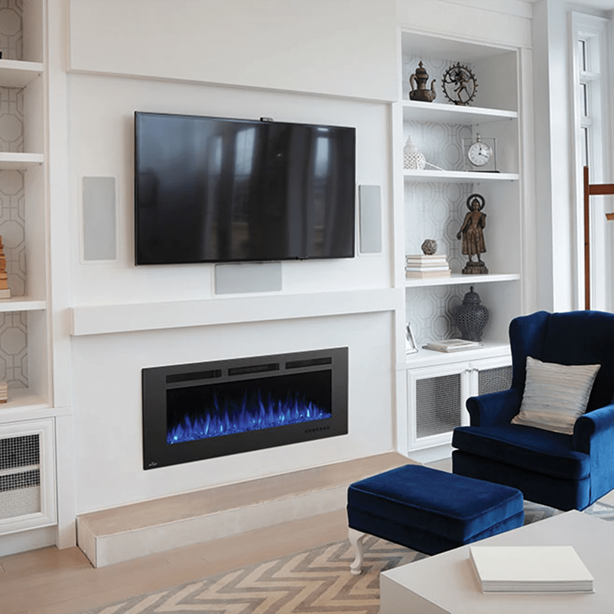 Living Room Electric Fireplace Napoleon Allure Phantom Wall Mount Electric Fireplace