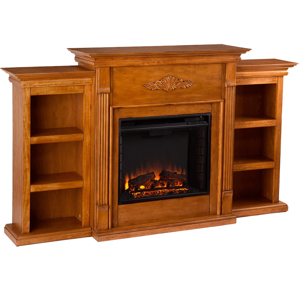 Tennyson Bookcase Electric Fireplace Southern Enterprises Sei Tennyson Electric Fireplace With Bookcases