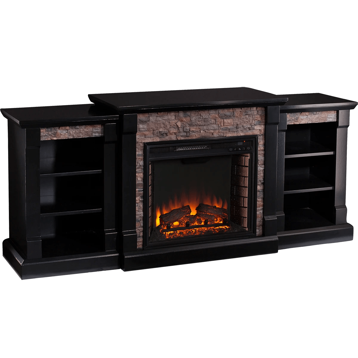 Small Fireplace Screens Under 30 Wide Southern Enterprises Gallatin Faux Stone Fireplace
