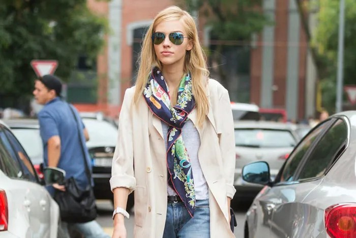 How To Style A Silk Scarf Different Ways To Wear A Scarf