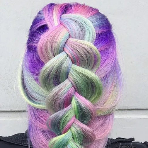 Coloured Hair Roots Unicorn Hair Color Trend Colorful Hair Color Trends