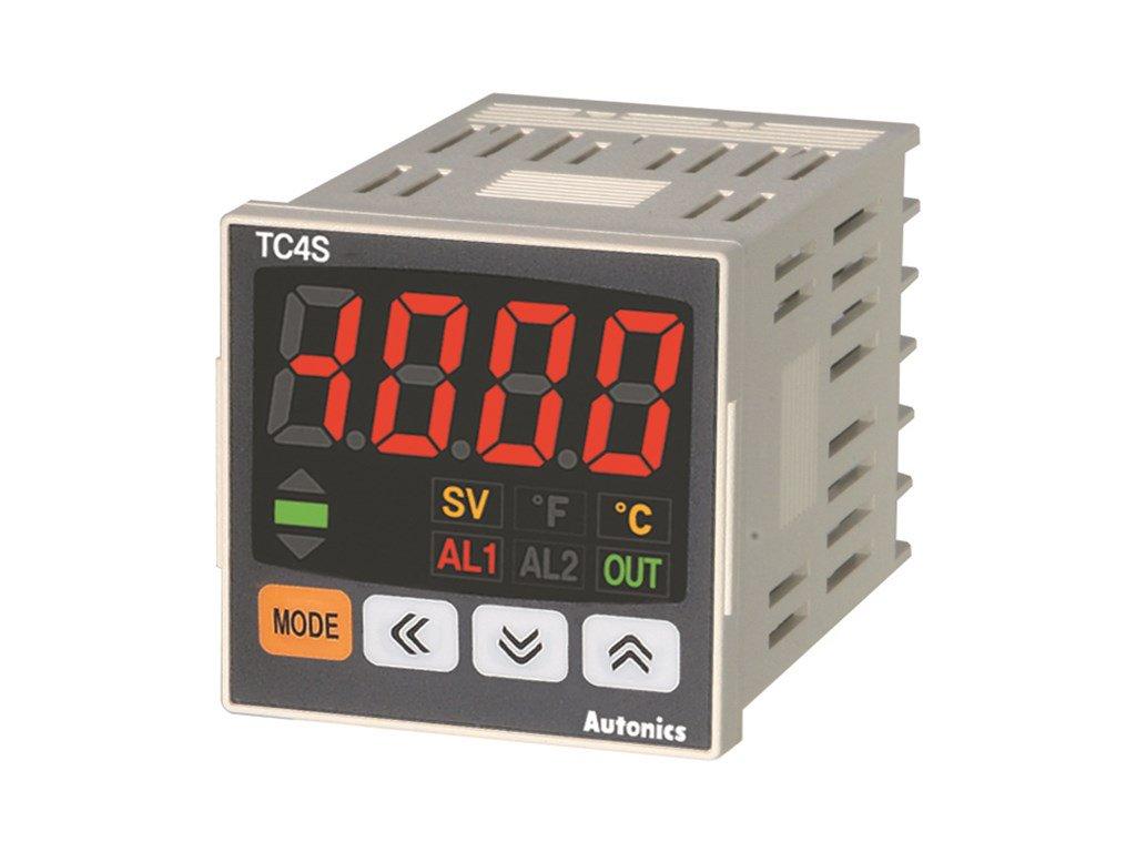 Autonics TC4S-14R Temperature Controller, 1/16 DIN, Single display