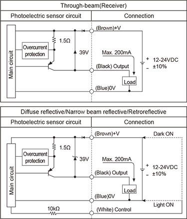 Autonics BR400-DDT Photoelectric Sensor, Diffuse Reflective, Light