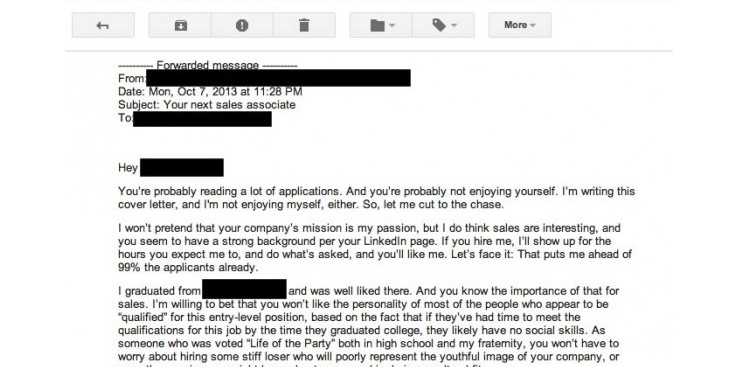 The Worst Cover Letter Ever Written (Literally) - what goes in a resume cover letter