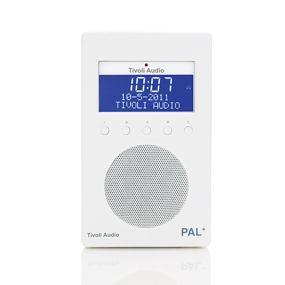Tivoli Radio Designer Top3 By Design Tivoli Pal Dab Fm Radio White