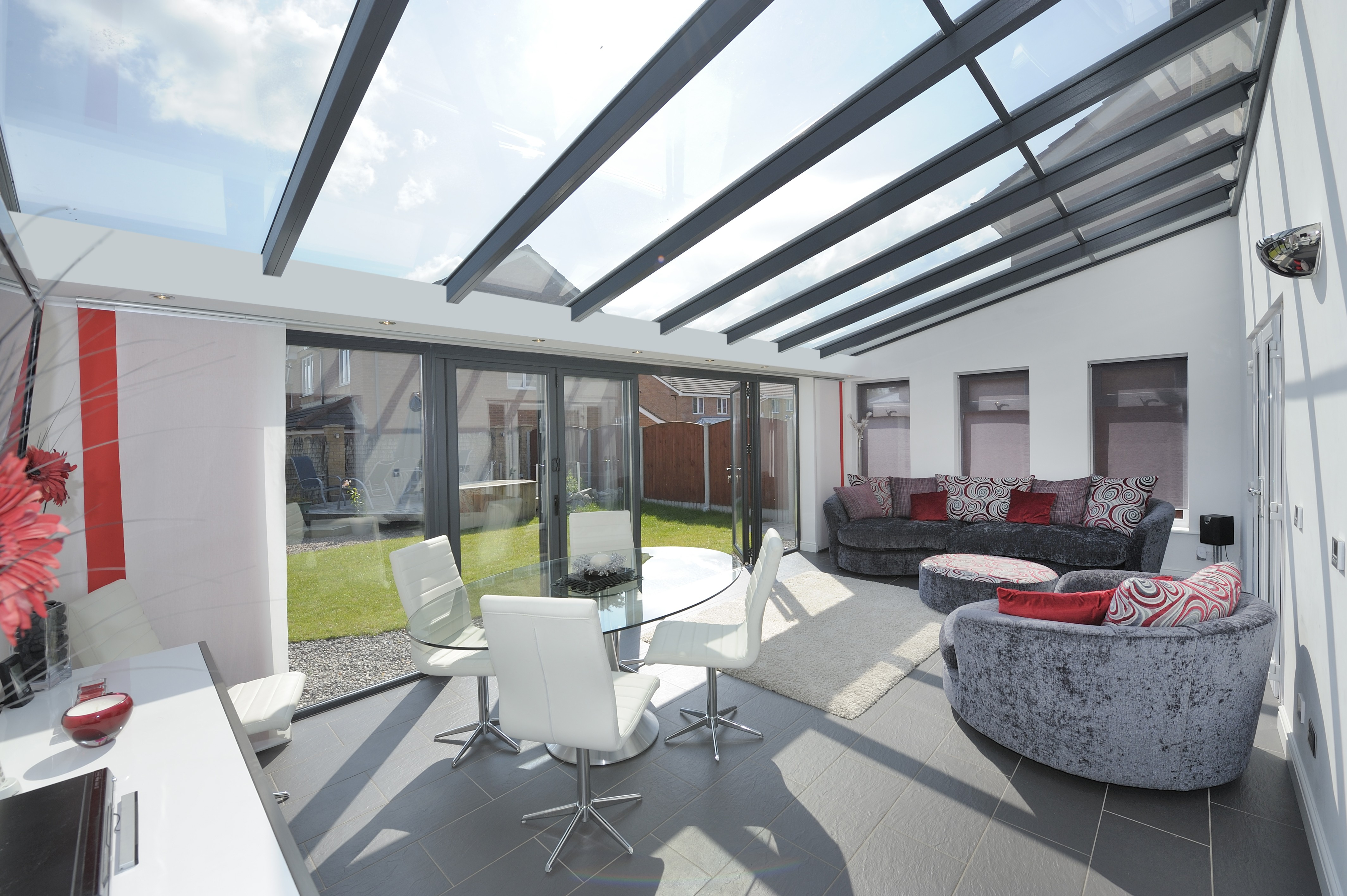 Glass Roof Extension Lean To Conservatories Lean To Conservatory Designs Ultraframe