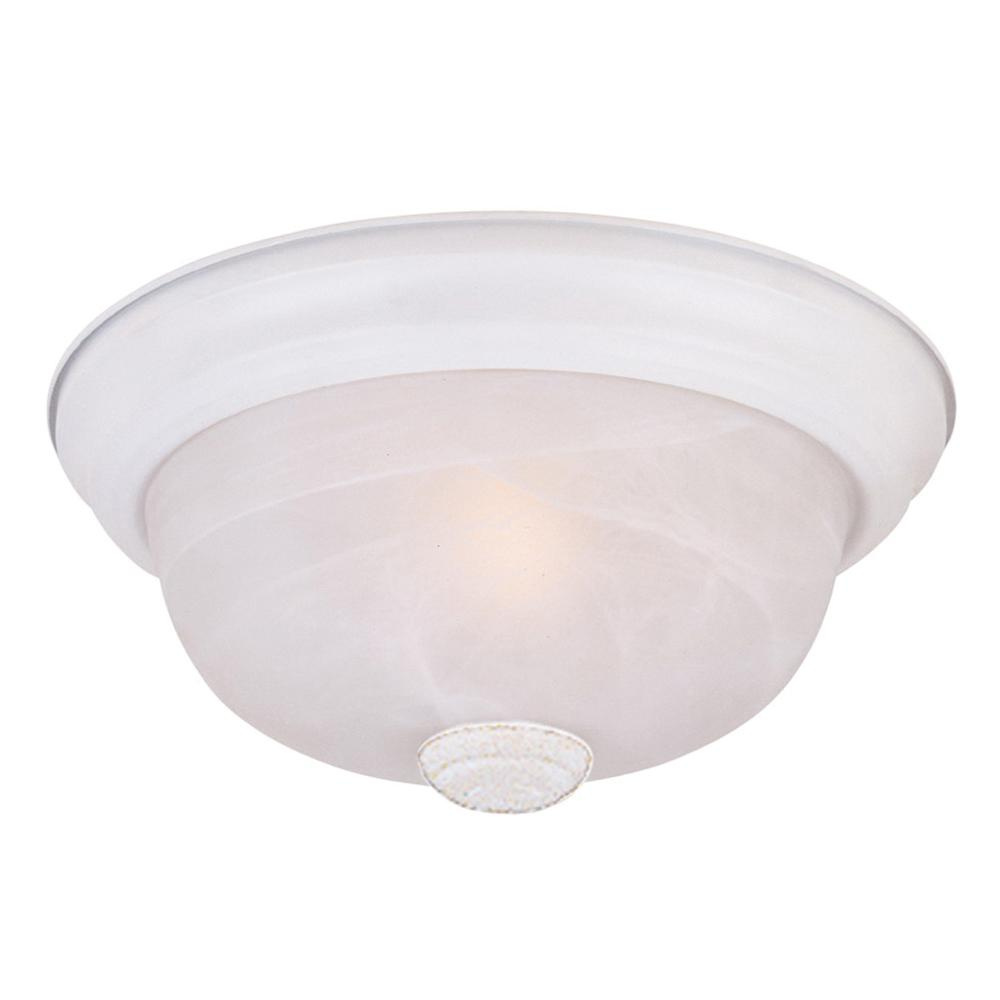 Designers Fountain Lighting Designers Fountain 1257m Wh Al 2 Light Flush Mount Ceiling Fixture