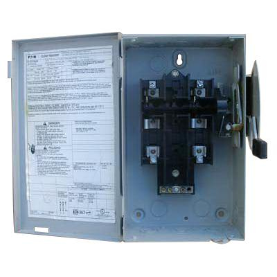 Eaton DG221NGB 3-Wire 2-Pole Fusible B Series General-Duty Safety