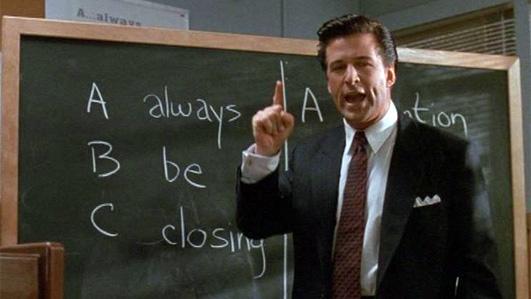 Alec Baldwin says 'Always. Be. Closing.'