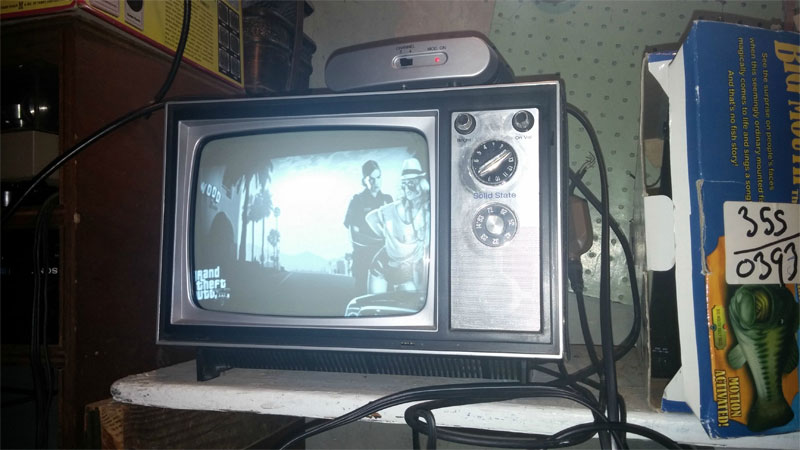 Colander What Gta 5 Looks Like On A 1973 Black And White Tv - Vg247