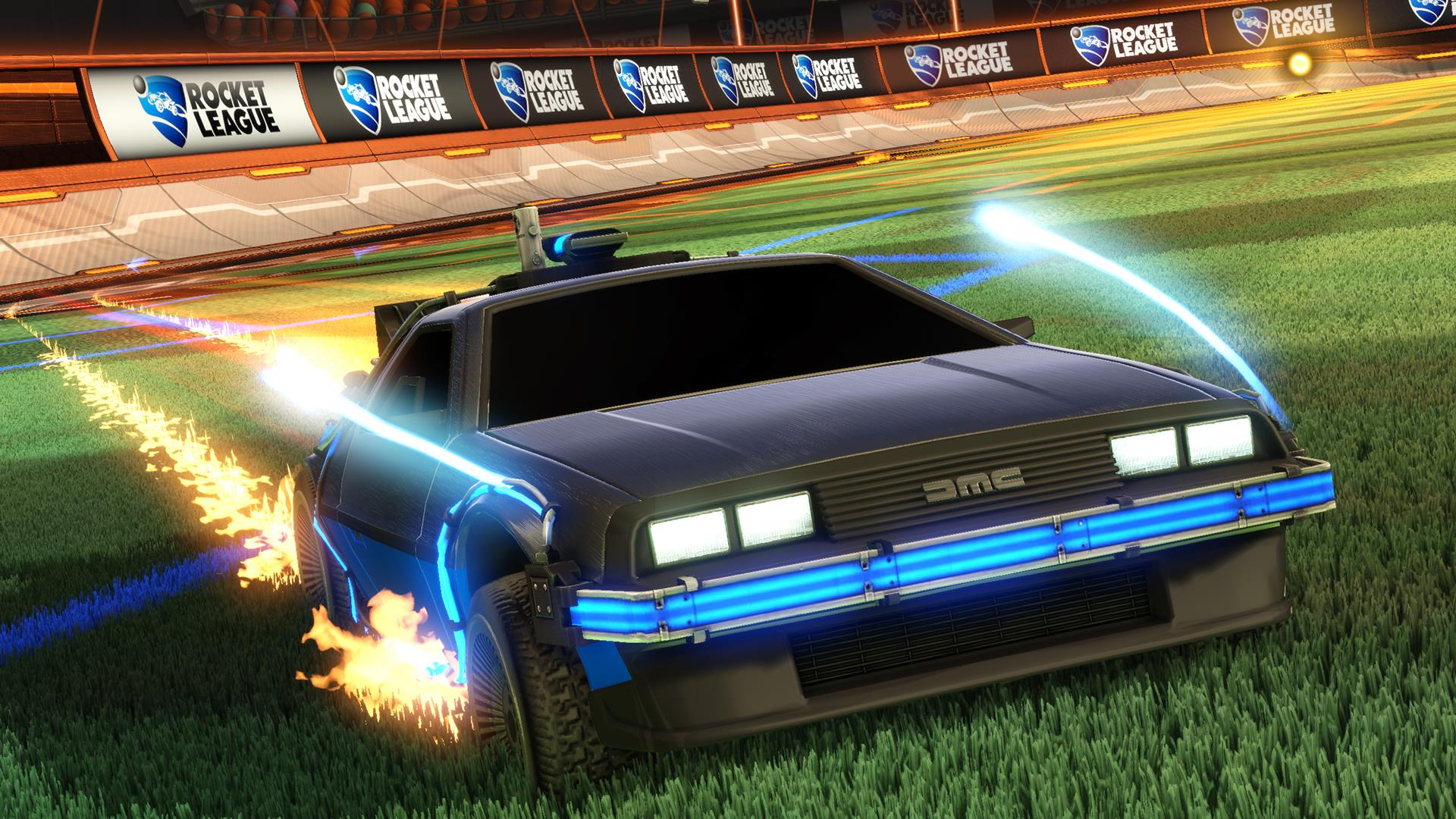 Rocketleague Garage Rocket League Is Getting Back To The Futures Delorean
