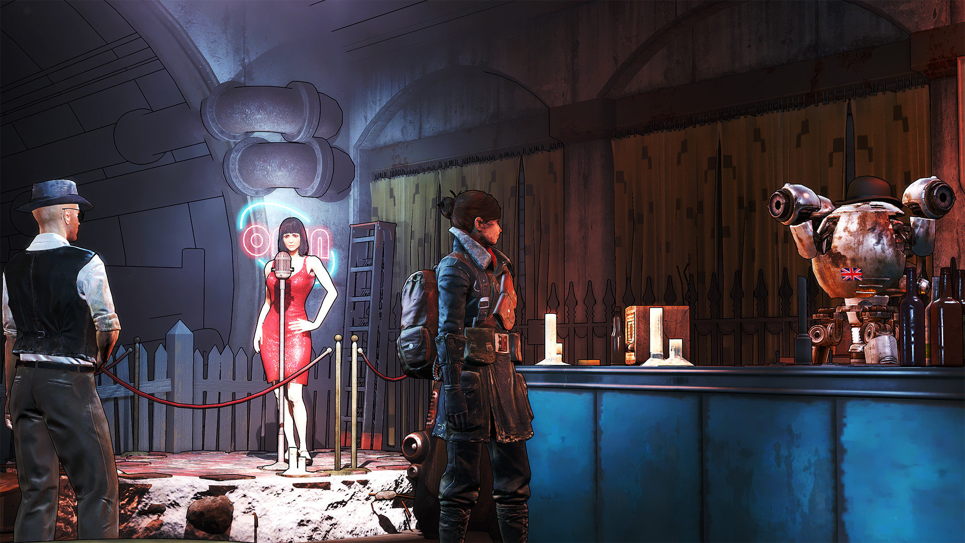 Dragon Skin Girl Wallpaper New Fallout 4 Tweak Adds Borderlands Style Cel Shaded Look