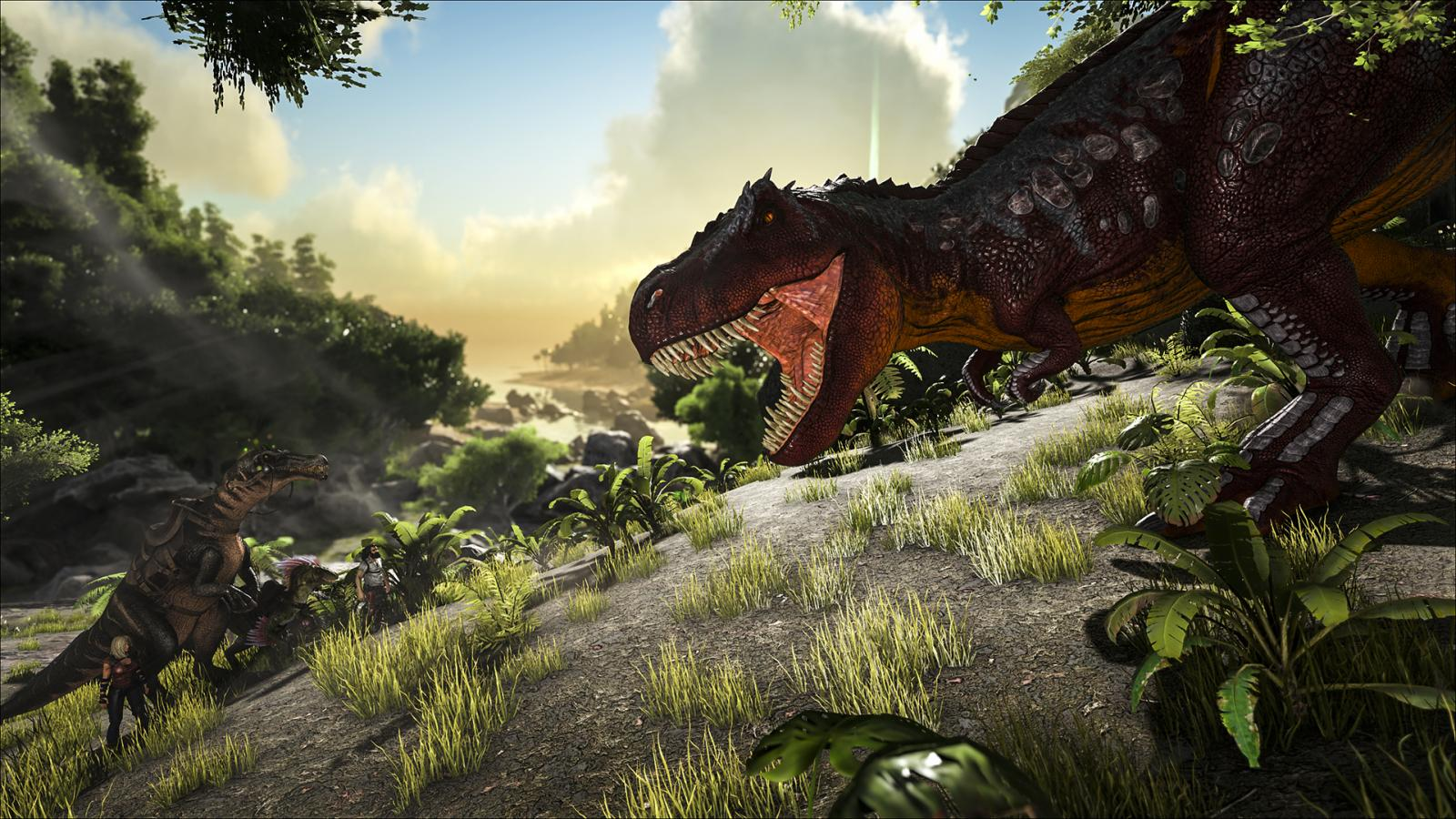 Fortnite 3d Wallpapers Ark Survival Evolved Update Gives Beasts A Visual