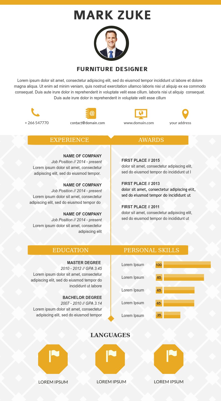 resume templates architecture