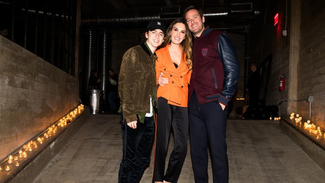 Couple Fall Wallpaper Armie Hammer And Timoth 233 E Chalamet Dine With Chrome Hearts