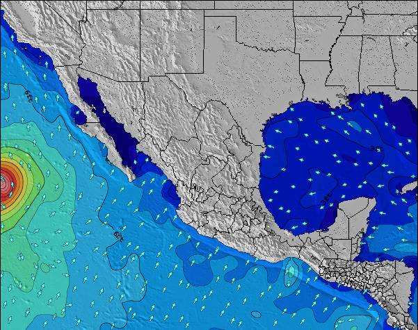 Map of Tide Stations in Mexico