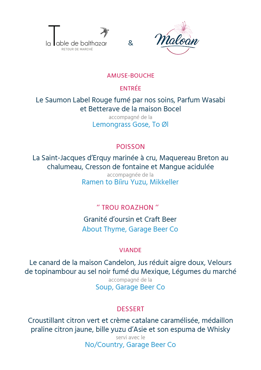 La Table Rouge Rennes Craft Beers Mets à La Table De Balthazar Jeudi 16 Novembre Maloan