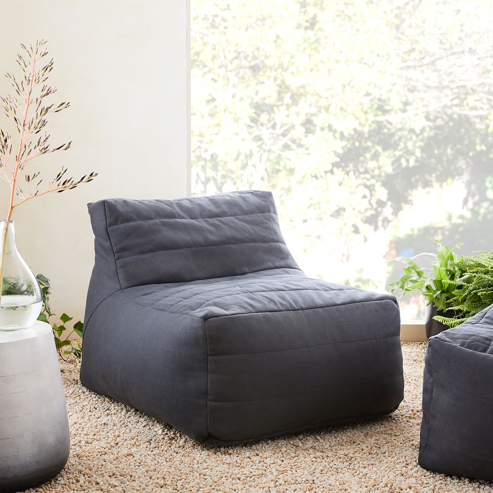 Channeled Outdoor Bean Bag Chair