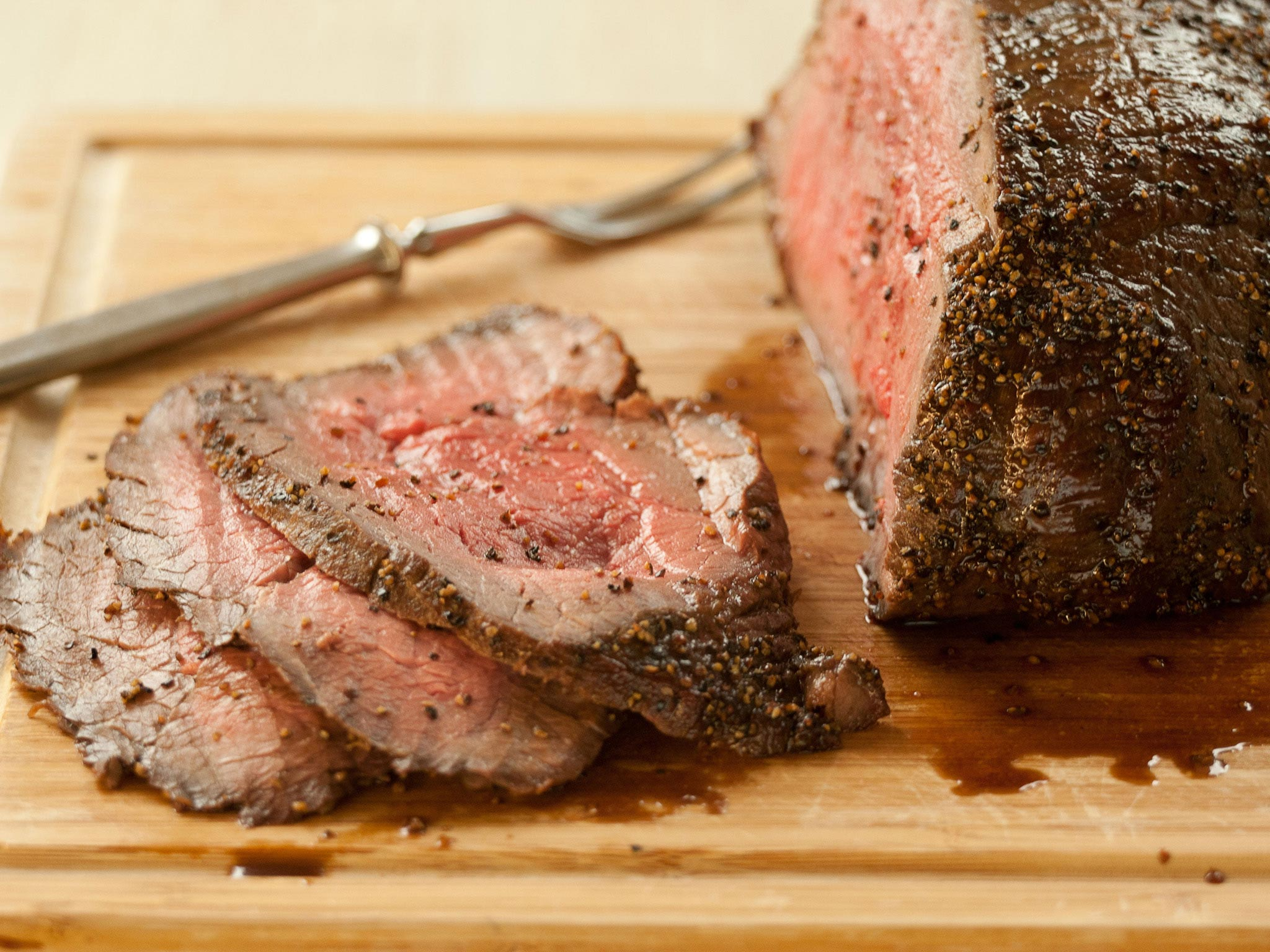 Recipe Honey Glazed Black Pepper Roast Beef Whole Foods Market