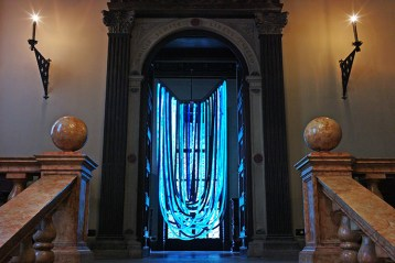 Museo Bagatti Valsecci Milan, Blue Chandelier by Nacho Carbonell | Yellowtrace.