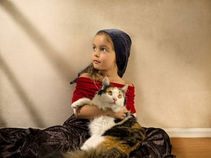 Bill Gekas' portraits of his daughter in the style of Dutch masters | Yellowtrace.