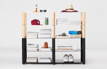'Heavystock' shelving system by Knauf and Brown | Yellowtrace.