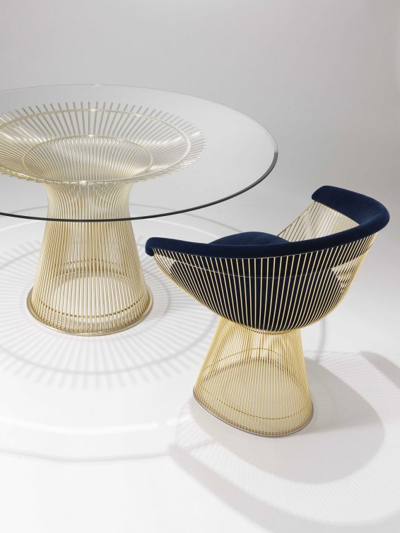 Knoll's Platner Chair Gold Collection, Salone Del Mobile 2016 | #Milantrace2016