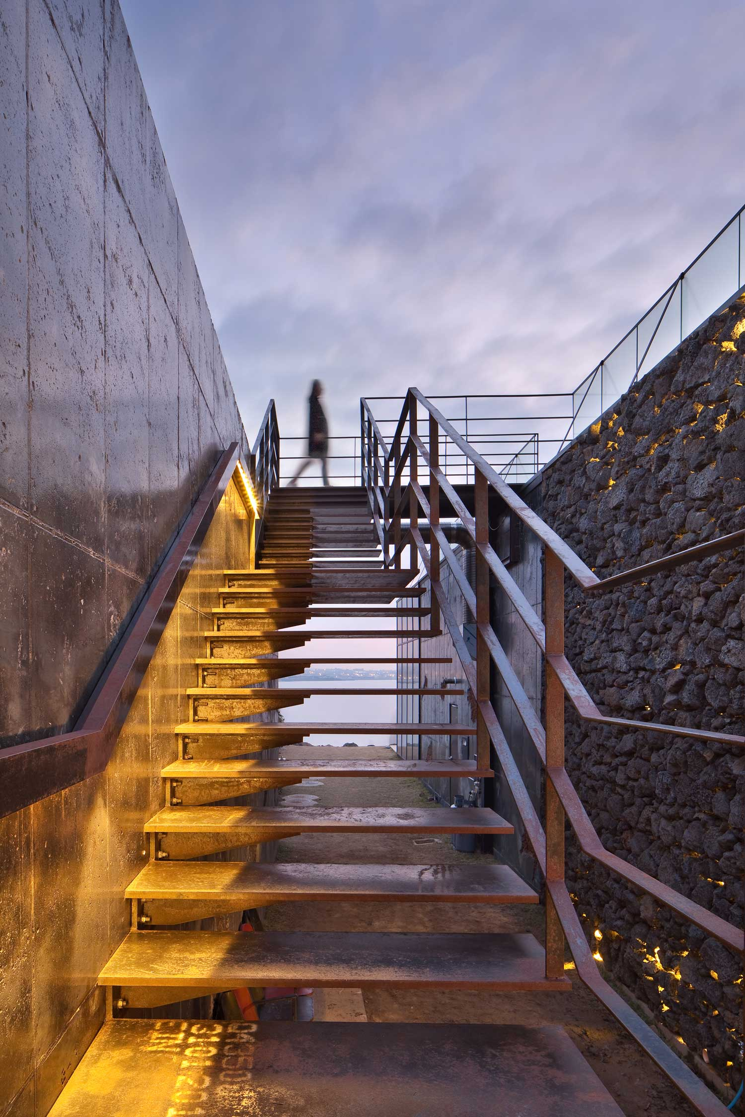 Cafe With Volcanic Stone Walls In South Korea By Platform A