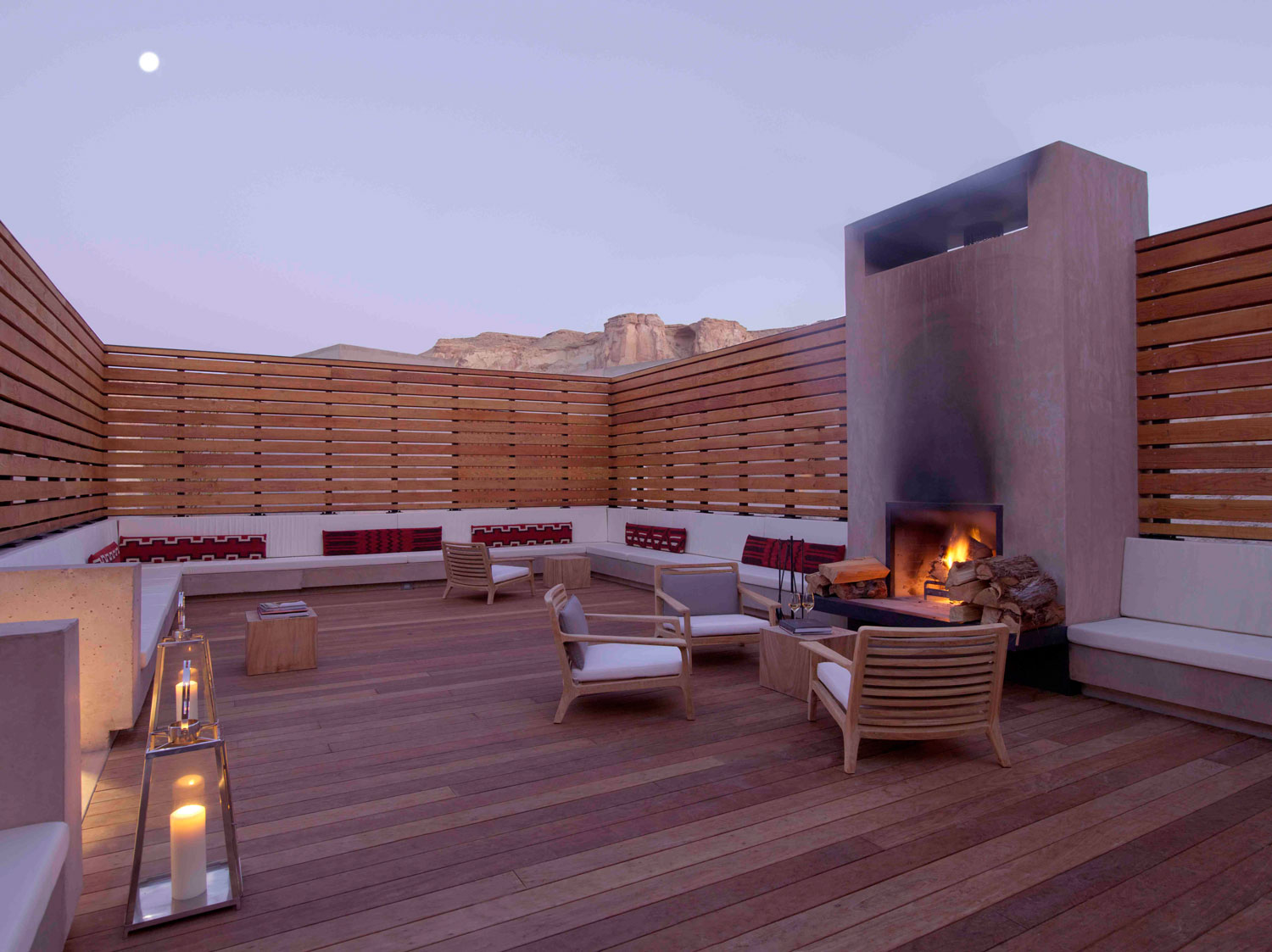 Amangiri resort spa in the high desert of utah for Wooden hotel design