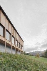 Modern Farmhouse in Laterns, Austria by Bernardo Bader Architekten | Yellowtrace