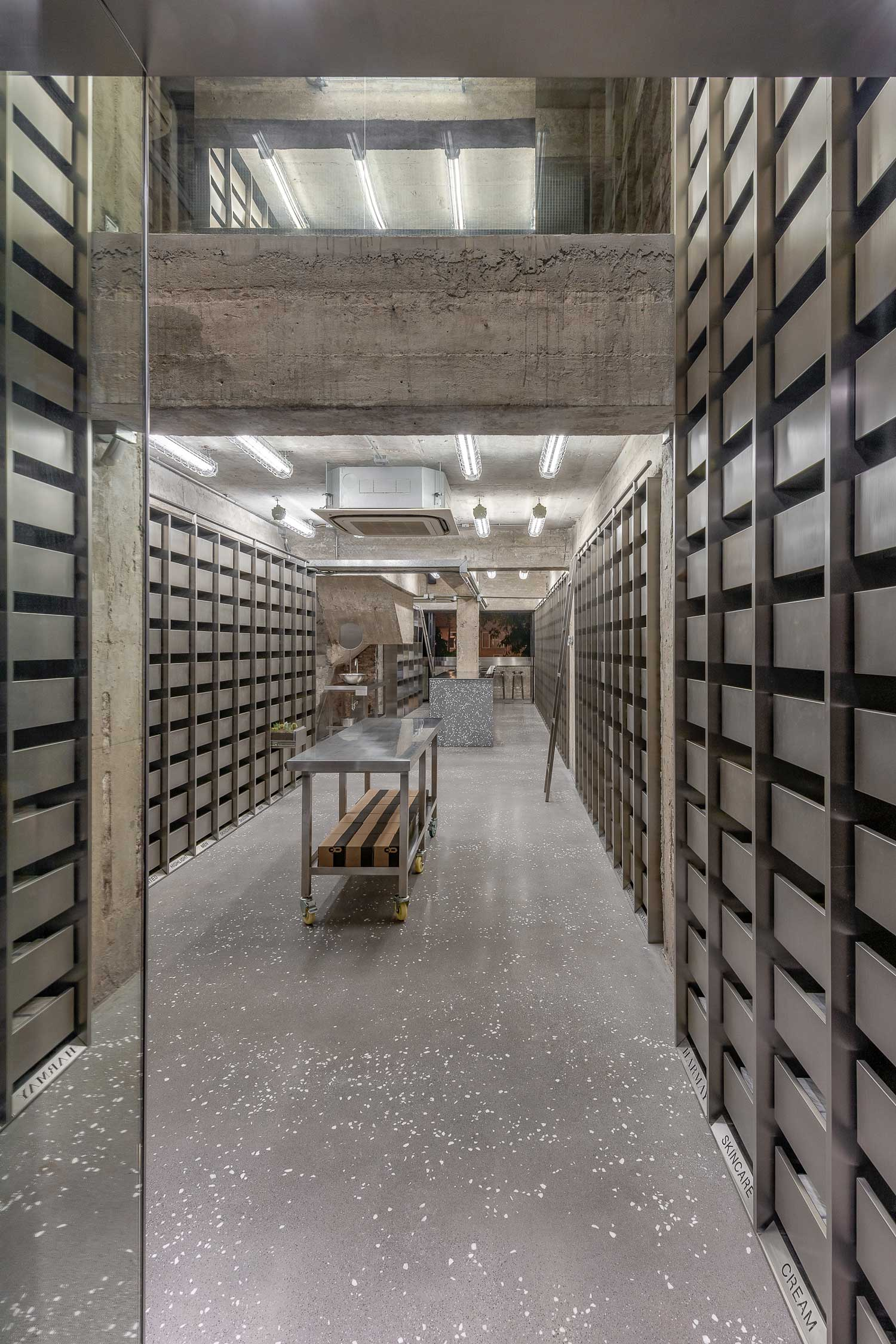 Store Metal Harmay Store In Hong Kong By Aim Architecture Yellowtrace