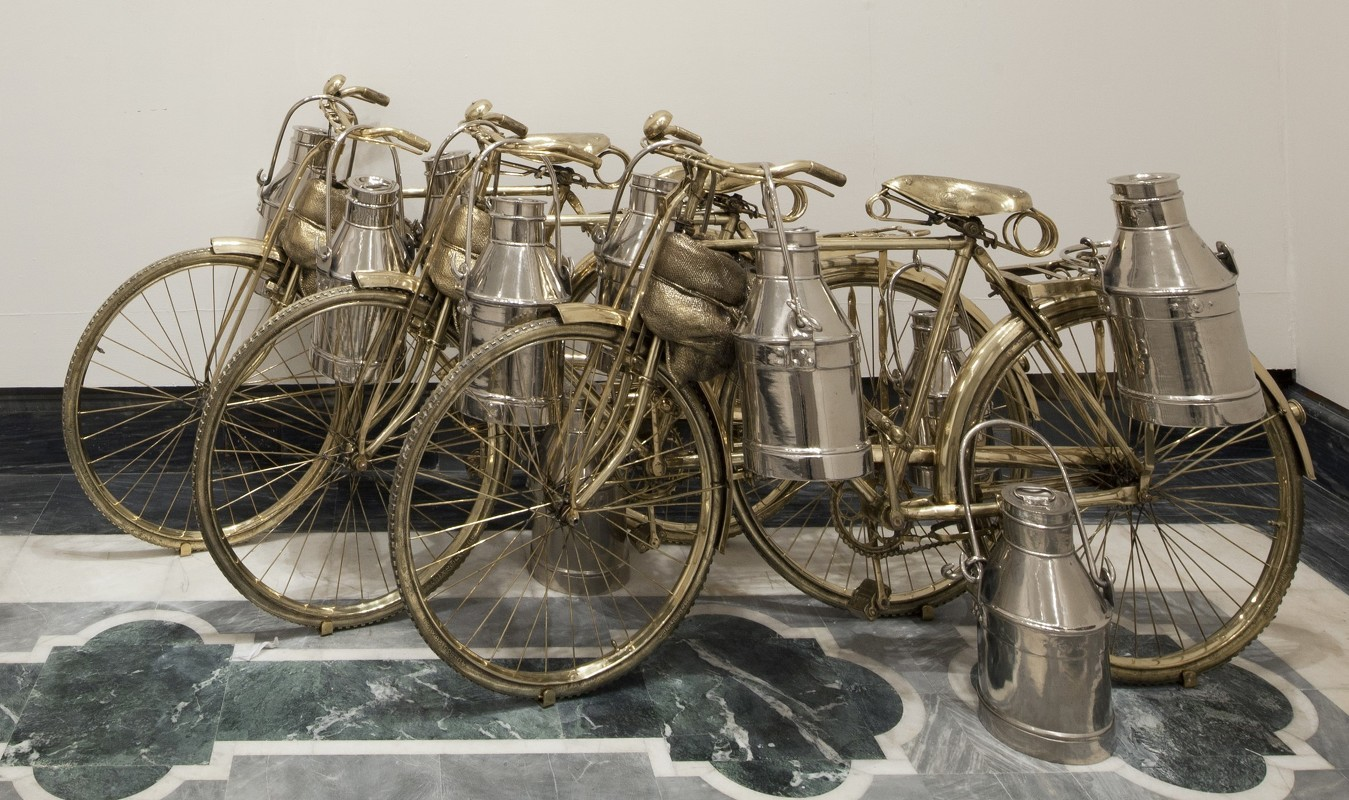 Arte Johnson On Bike Nature Morte Subodh Gupta