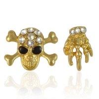 Buy Gold Skull Hand Stud Earring Online