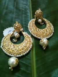 Buy traditional golden heavy earring Online