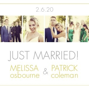 Wedding Announcements Photo Strip By Mixbook