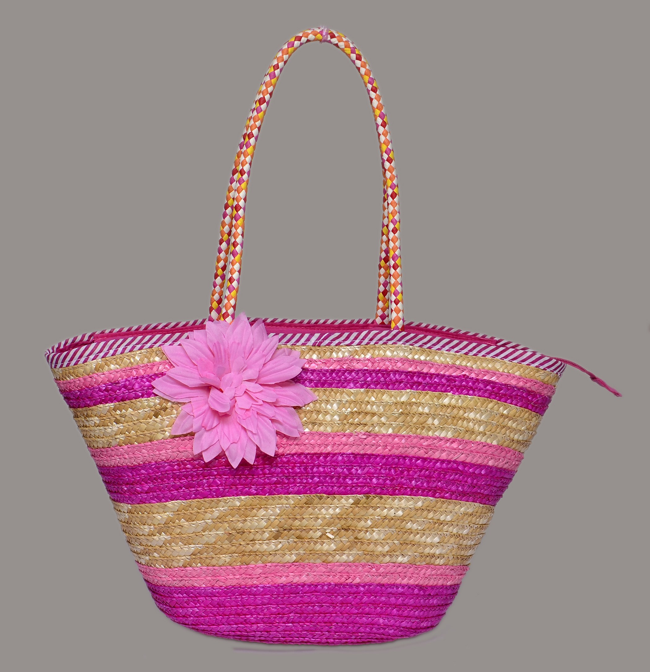 Cane Baskets Gorgeous Multi Colour Cane Baskets With Flower Pink