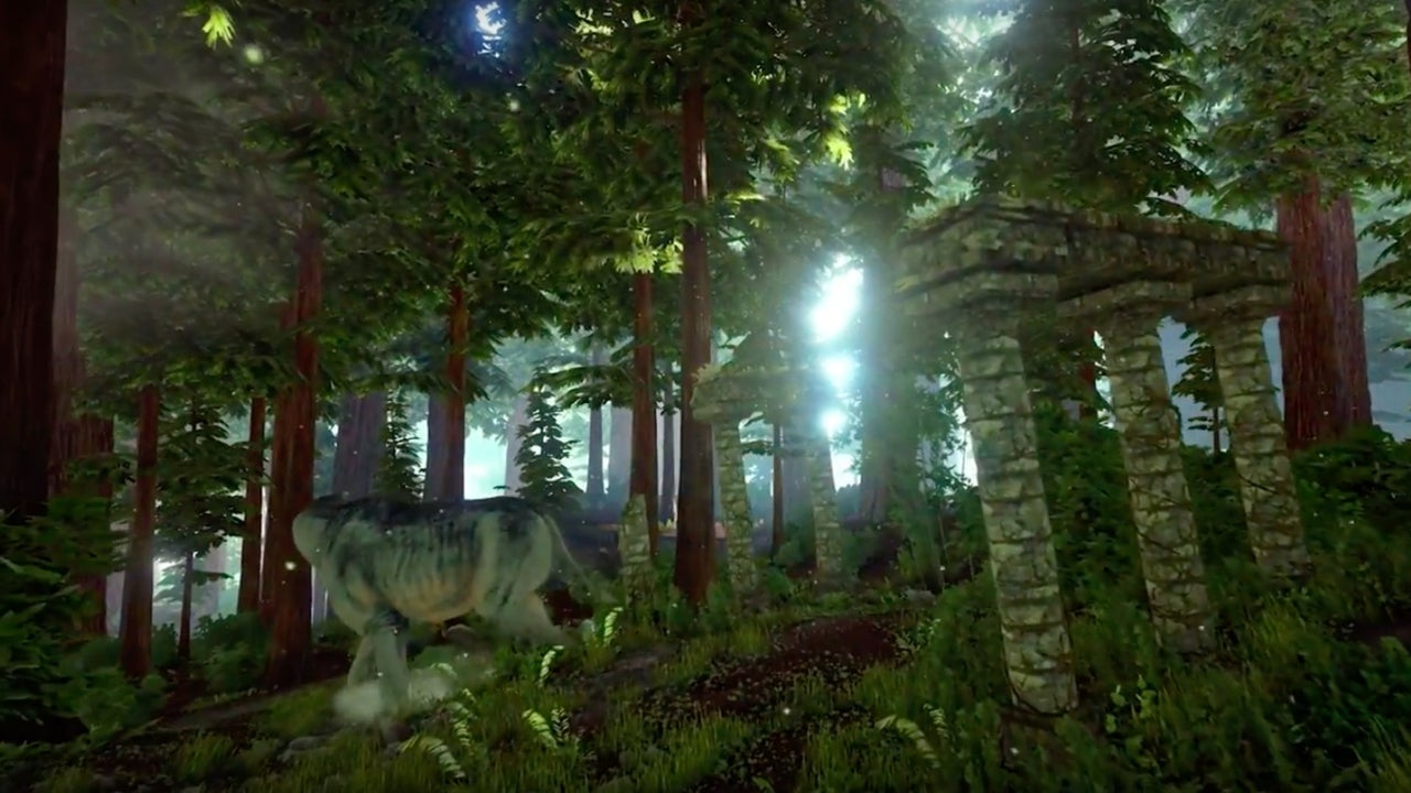 Destiny 2 Hd Wallpaper Ark Survival Evolved Official Redwood Biome And Spotlight