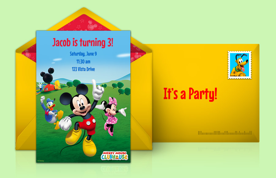 mickey mouse clubhouse picture invitations - Goalgoodwinmetals