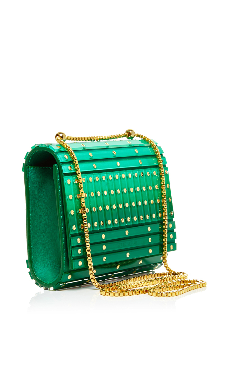 Abat Jour Rond Abat Jour Small Shaded Plexi Stripes And Studs Clutch