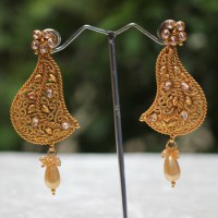 Buy Flashy american diamond earring set Online