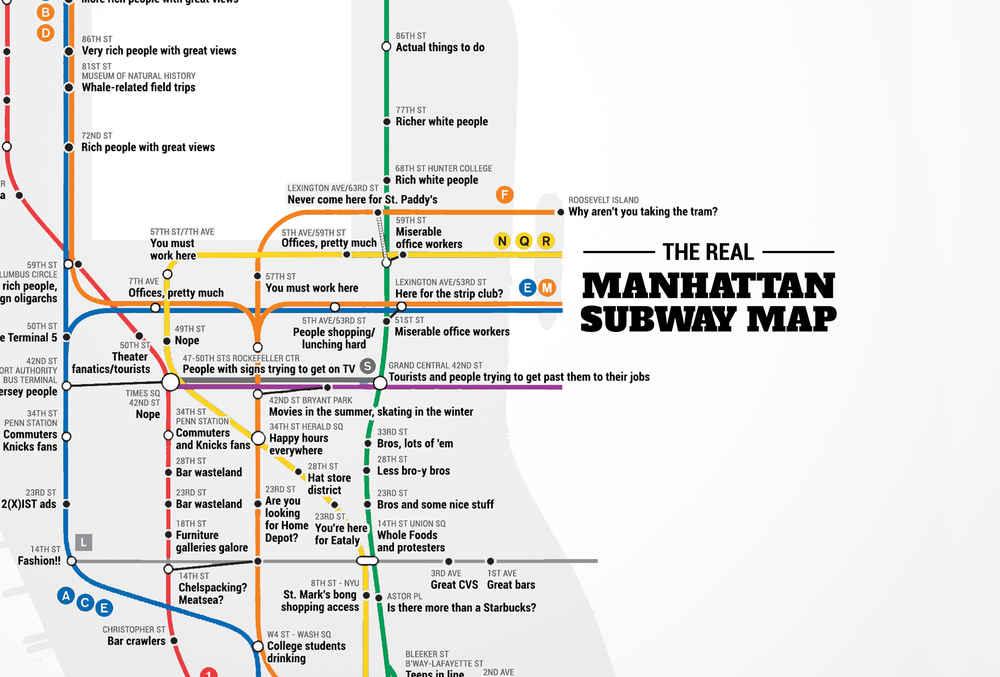Judgemental NYC Subway Map - Thrillist
