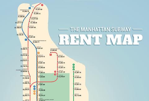 Manhattan Subway Rent Map - Thrillist