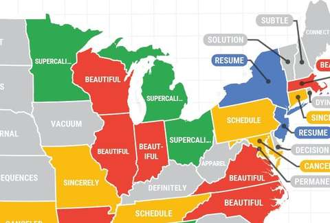 Most Misspelled Words of 2018 in Every US State, Mapped - Thrillist