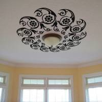 Buy Large Flowers in Circle Ceiling Decal Modern Graphic ...