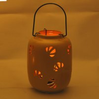 Buy Mini Yellow Ceramic Hanging Enclosed Candle Holder Online