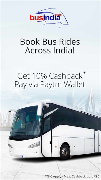 Get 10% cashback when you pay via Paytm Wallet @BusIndia