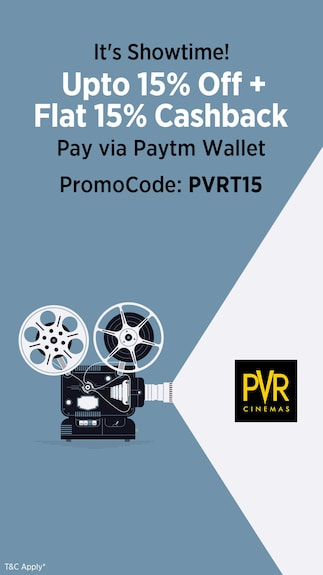 Get 15% cashback + 15% Off when you pay via Paytm Wallet @PVR  Limited