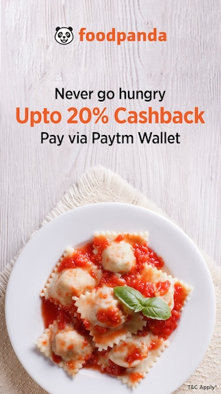 Get 20% cashback when you pay via Paytm Wallet @Foodpanda